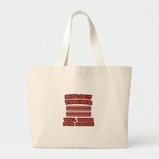 Biology Teacher Will Work For Bacon Tote Bags