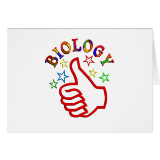 Biology Thumbs Up Greeting Card