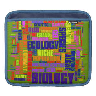 Biology Wordle iPad Sleeve