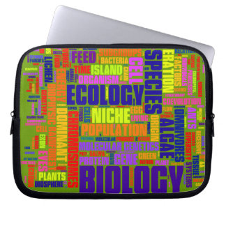 Biology Wordle Laptop Bag Laptop Sleeves
