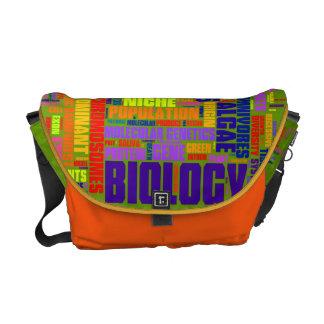 Biology Wordle Messenger Bag