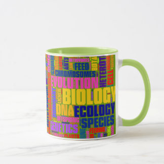 Biology Wordle Mug Green