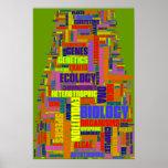 Biology Wordle No.1 Vibrant Green