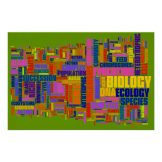 Biology Wordle No. 2 Poster