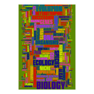 Biology Wordle No. 3 Poster