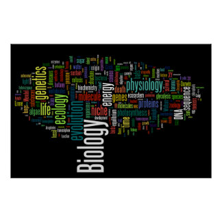 Biology Wordle No.5 Black Print