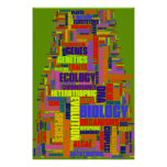 Biology Wordle Poster Vibrant on Green