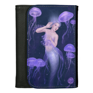 Bioluminescence Jellyfish Mermaid Medium Wallet
