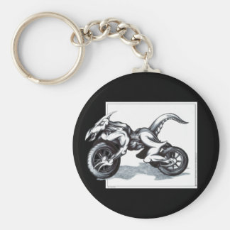 Biomechanical Draconic Trike Basic Round Button Key Ring
