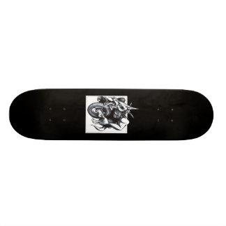 Biomechanical Draconic Unicycle Custom Skateboard
