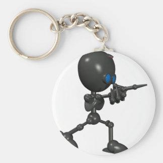Bionic Boy 3D Robot - Finger Guns - Original Key Ring