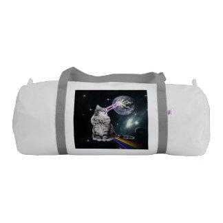 Bioworld Laser Eyes Space Cat Gym Duffel Bag