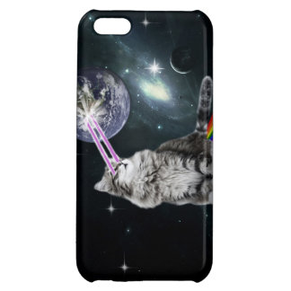 Bioworld Laser Eyes Space Cat iPhone 5C Cases