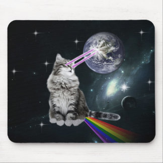 Bioworld Laser Eyes Space Cat Mouse Pad