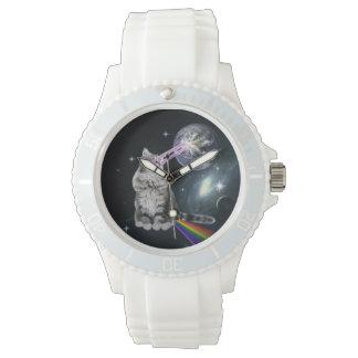 Bioworld Laser Eyes Space Cat Wrist Watch