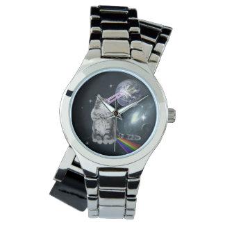 Bioworld Laser Eyes Space Cat Wrist Watches