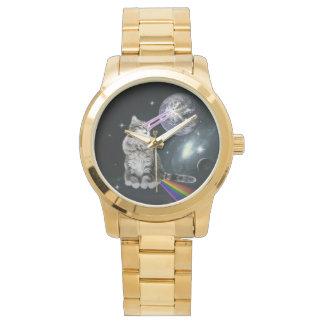 Bioworld Laser Eyes Space Cat Wristwatches