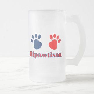 Bipawtisan Politics Frosted Glass Mug