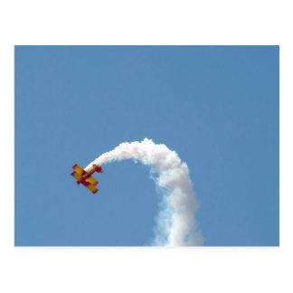 Biplane Acrobatics Postcard