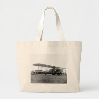 Biplane Airliner, 1919 Canvas Bag