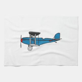Biplane Airplane Kitchen Towel