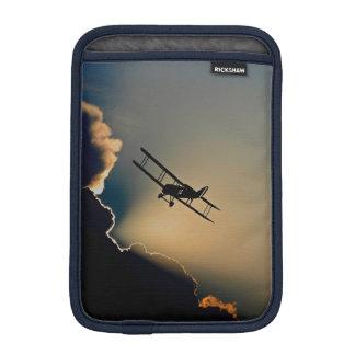 Biplane and sunset iPad mini sleeve