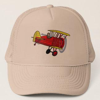 Biplane hat -- red