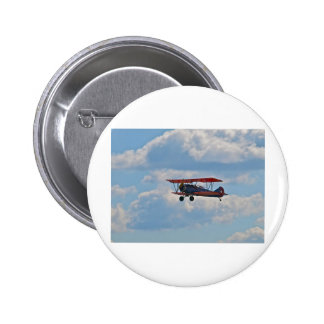 Biplane in Flight Pinback Button
