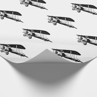 BiPlanes Black and White Wrapping Paper