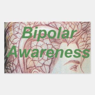 bipolar awareness rectangular sticker