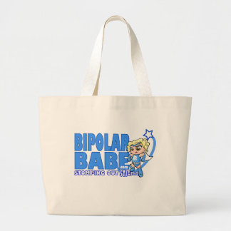 BiPolar Babe Apparel Large Tote Bag