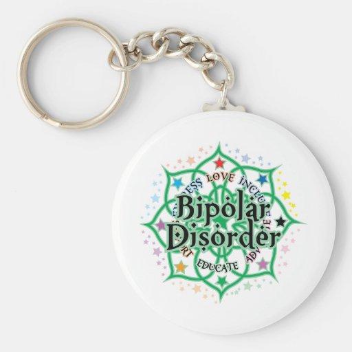 Bipolar Disorder Lotus Key Chains