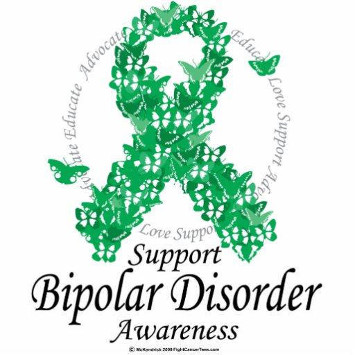 Bipolar Disorder Ribbon of Butterflies Photo Sculptures
