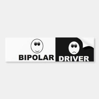 Bipolar driver bumper sticker