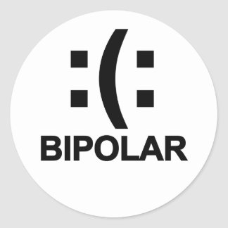 Bipolar T-Shirts.png Classic Round Sticker
