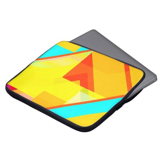 bipolar yellow laptop sleeve