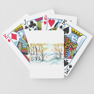 Birch and bunny bicycle playing cards