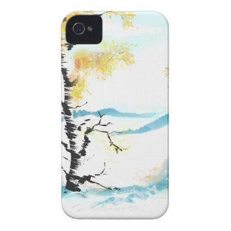 Birch and bunny iPhone 4 case