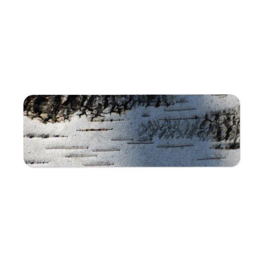 Birch bark 1291 return address label
