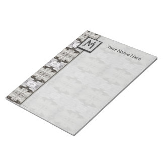 Birch Bark Black White Wood Design Notepads