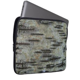 Birch bark computer sleeves