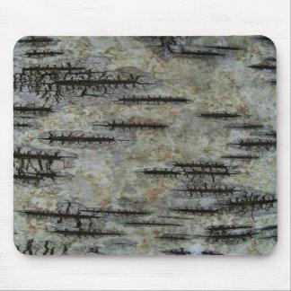 Birch bark mouse pad