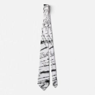 Birch bark pattern tie