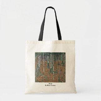 Birch By Klimt Gustav Tote Bags