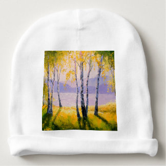 Birch by the river baby beanie