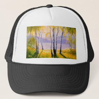 Birch by the river trucker hat