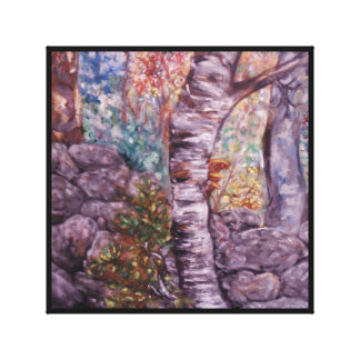 Birch Detail Canvas Print