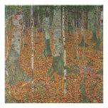 Birch Forest by Gustav Klimt, Vintage Art Nouveau Personalized Invitations