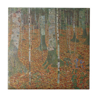 Birch Forest by Gustav Klimt, Vintage Art Nouveau Tile