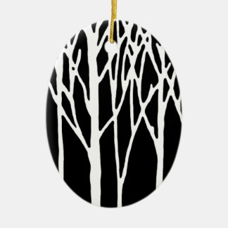 Birch Forest by Leslie Peppers Ceramic Oval Decoration